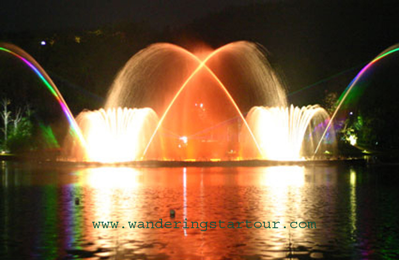 Swan Lake - Show of Musical Fountain with water screen at Swan Lake at 20.00 pm. & 21.10 Pm