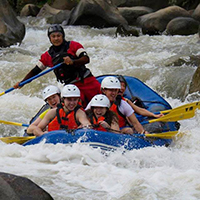 White Water Rafting and Elephant Interaction