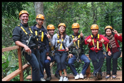 With 34 platforms, we are the biggest&highest zipwire through the exotic untouched Rainforest in Thailand