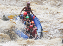 Really good fun!! enjoying a white water rafting in Mae Tang river