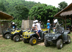 A great way to spend your time with the challenge of the rapids and spend a day enjoying the freedom of the trail on your 250 c.c. ATV (All Terrain Vehicle)
