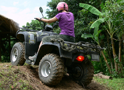 learn to ride the All Terrain Vehicle (ATV).