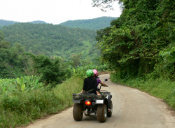 Ready to go and spend a day enjoying the freedom of the trail o­n your 250 c.c. ATV (All Terrain Vehicle)