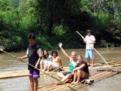 Take a white water rafting along the river for 1 hour and continue with a bamboo rafting for 15 mins.