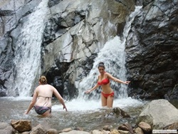Walk 2 hours to Waterfall where you can swim and relax