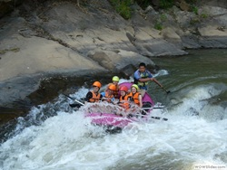 Start white water rafting and continue with Bamboo Rafting
