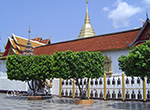 Doi Suthep temple, the most important temple in Chiang Mai. Exercising time by walking up 306 steps to the temples or taking the funicular to the temple