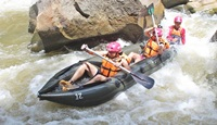Whitewater rafting 10 km. and Water slide