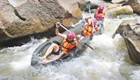 White Water Rafting 10 kilometers and 3 hours trekking