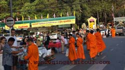 Morning Arm Giving- Doi Suthep Temple