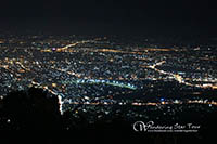 iewpoint; watching the top view of Chiang Mai at night