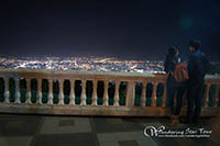 Viewpoint; watching the top view of Chiang Mai at night