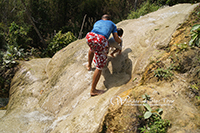 Nam Tok Bua Tong (Amazing waterfall you can climb up (The limestone waterfall)