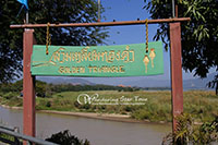 the golden triangle where the borders of Thailand, Laos, and Myanmar meet at the confluence of the Ruak and Mekong Rivers!