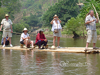 Enjoy Bamboo rafting