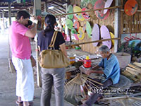 mbrella making is the most famous specialty of this village.