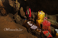 Chiangdao cave where these are Burmese style Buddha images, beautiful stalactites and stalagmites.