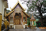 Doi Suthep Temple, the most important temple in Chiang Mai. Exercising time by walking up 306 steps to the temples or taking the funicular to the temple with the attitude at 1,100 m above the sea leve