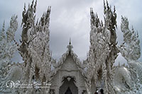 White temple You can enjoy taking pictures of one of the most beautiful temple in Thailand which its uniqueness in white color