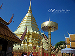 Doi Suthep Temple is the most important and most visible landmark