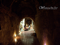 Wat  Umong  set  in  forest  is  completely   different  from  other  typical  temples ,  this  one  is  built  inside  a  tunnel