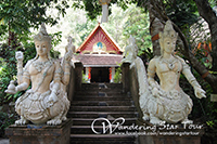 Wat Palad (or Wat Pha Lat) is a temple in Chiang Mai that is tucked away in the heart of the jungle.