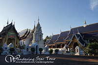 Grand Blue Temple (Wat Baan Den.) Wat Baan Den is an amazingly attractive and unusual Thai Temple. In 1988 the new Abbot of Wat Ban Den set out to create the most beautiful Thai Temple in the area.