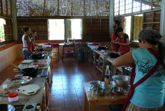 Learn to cook Thai food at organic farm pick fresh ingredients and cook healthy food everyday