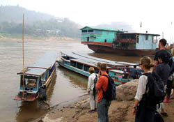 Package by Slow Boat to Luang Prabang - Start 10.00 - 10.30 am. (Stay Overnight at Chiang Khong and Pak Bang village)