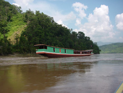 Package by Slow Boat to Luang Prabang - Start 12.00 - 12.30 pm. (Stay Overnight at Chiang Khong and Pak Bang)
