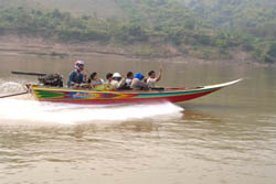 Package by Speed Boat to Luang Prabang - Start 19.00 - 19.30 pm. (Two days trip)