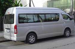 Mini bus to Mae sai to further afield to renew your stamp at the border