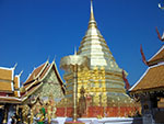 Doi Suthep Temple - A beautiful golden temple, situated up the mountain