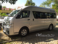 10 seats with Driver and air-conditioned minibus