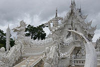 White temple, you can enjoy taking pictures of one of the most beautiful temple in Thailand which its uniqueness in white color