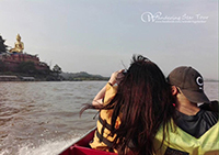 Option: Take a long tail boat along Mae Khong River to visit Laos blanks