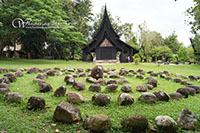 Baan Dam (Black House) in Chiang Rai. This is the house of National artist Thawan Duchanee and is a huge teak hall and several other teak buildings filled with art, the Black