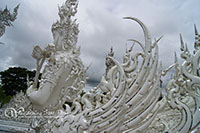 Wat Rong Khun is unique from other temples as it is white in color