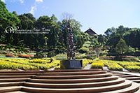 Doi Tung,The botanical gardens known collectively as The Mae Fah Luang Garden,