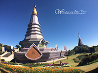 Visit the modern Chedis which are decorated with interesting tiled murals. Phra Mahathat Nophamethanidol and Phra Mahathat Nophol Bhumisiri, Twin pagodas.