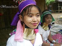 Karen Longneck tribe who ear brass neck-rings