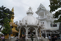 Visit  White Temple. Wat Rong Khun is unique from other temples as it is white in color. Combine the white with glass mosaics and this Temple sparkles