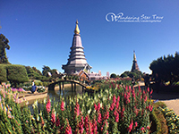Doi Inthanon National Park, Phra Mahathat Nophamethanidol and Phra Mahathat Nophol Bhumisiri, Twin pagodas.