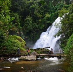1 day trekking at Doi Inthanon National Park area at Baan Mae Klang Luang and Phadoksiew Waterfall (Private Tour)