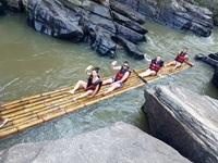 Bamboo Rafting alone Mae Wang River