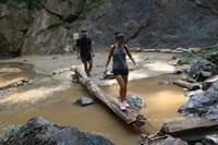 small trek to waterfall