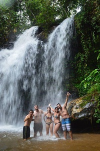 Relax and Swim at Waterfall